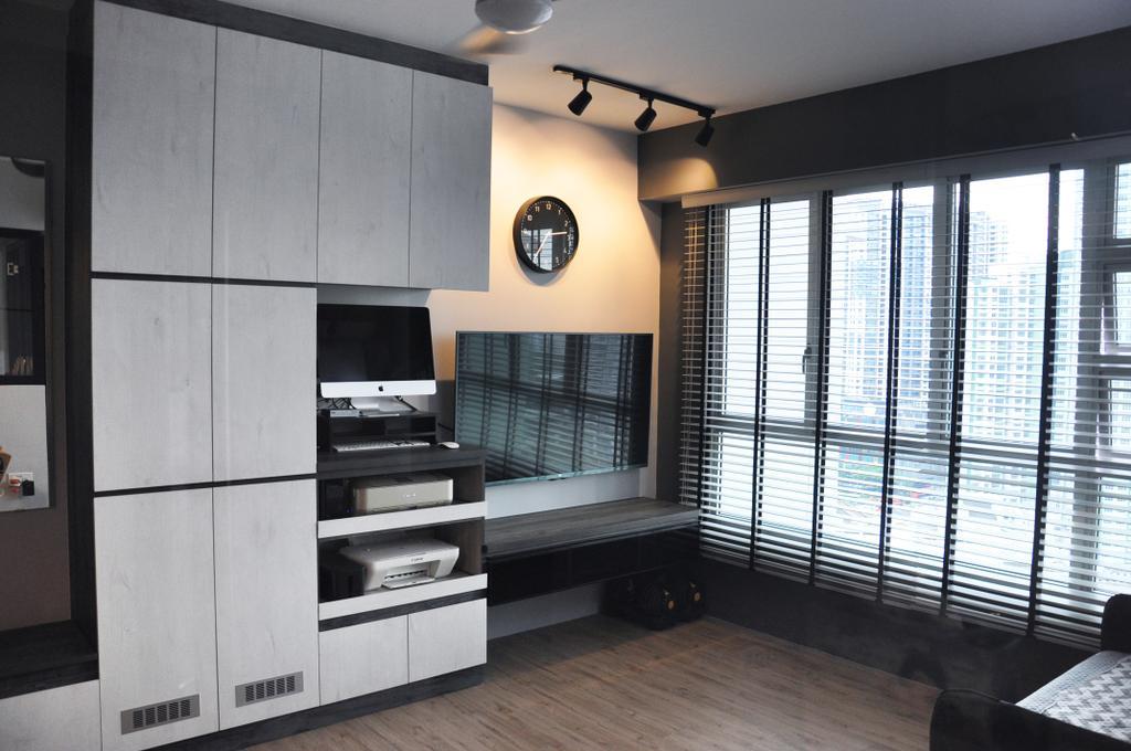 Scandinavian, HDB, Living Room, Clementi Avenue 4 (Block 312A), Interior Designer, Aritz Design & Construction, Electronics, Entertainment Center