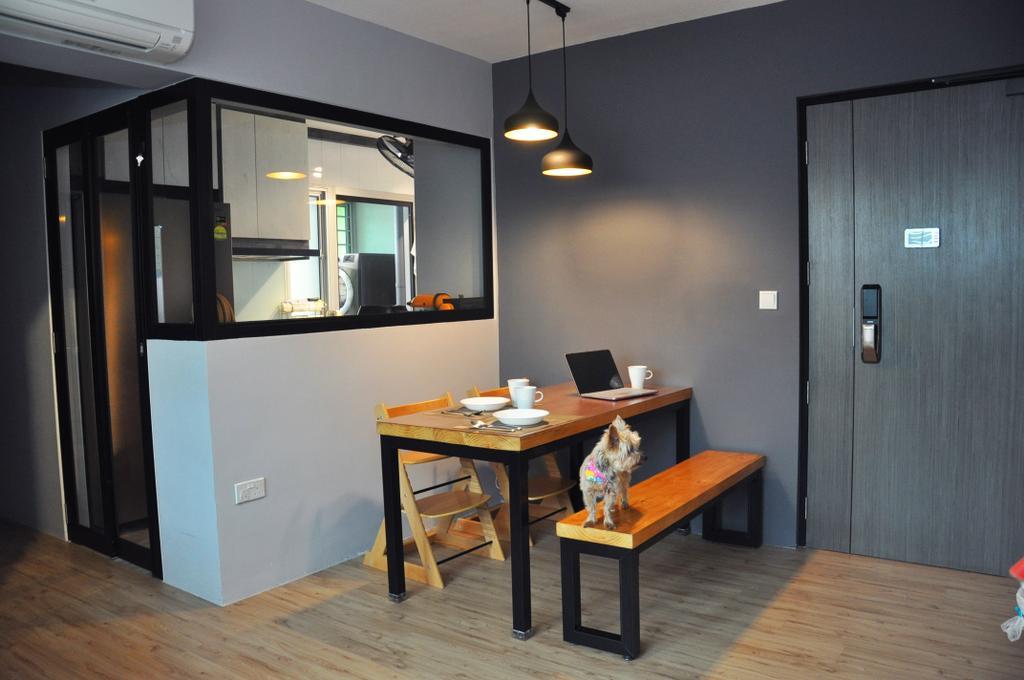Scandinavian, HDB, Dining Room, Clementi Avenue 4 (Block 312A), Interior Designer, Aritz Design & Construction, Dining Table, Furniture, Table, Building, Housing, Indoors, Loft