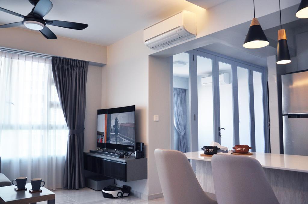 Minimalistic, HDB, Living Room, Clementi Avenue 4 (Block 312B), Interior Designer, Aritz Design & Construction, Modern, Indoors, Interior Design, Dining Room, Room