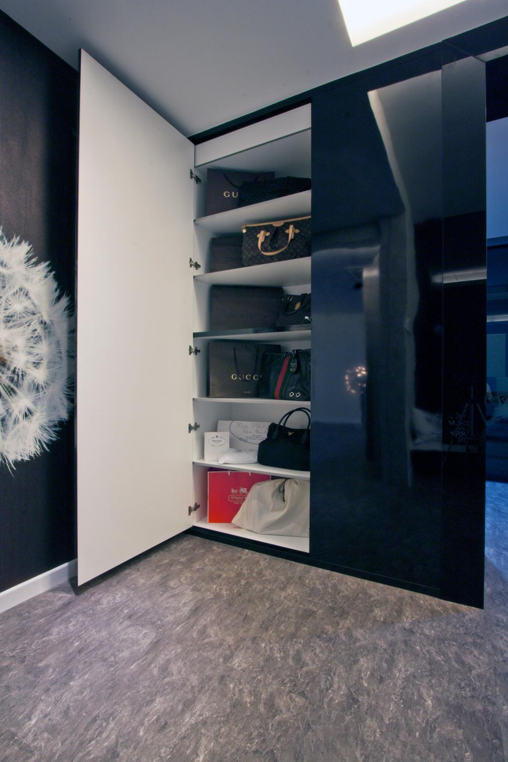 Modern, Condo, Bedroom, Tanjung Heights, Interior Designer, Zeng Interior Design Space, Bags, Bag Storage, Cabinet, Cabinetry, Wardrobe