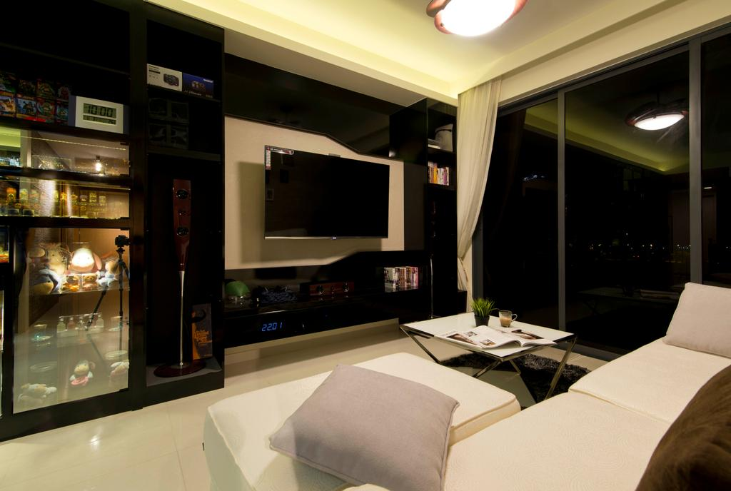 Modern, Condo, Living Room, Punggol, Interior Designer, Mode Interior Style, Restaurant, Indoors, Interior Design
