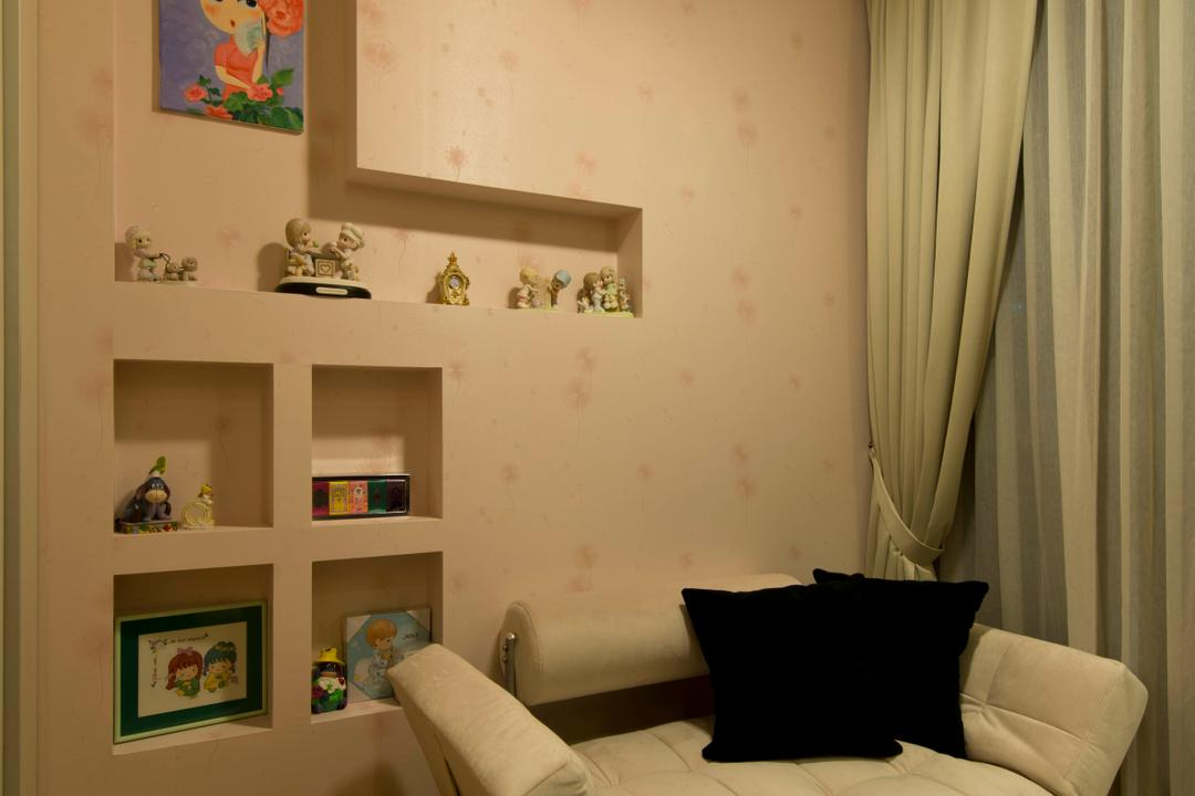Punggol, Mode Interior Style, Modern, Bedroom, Condo, Couch, Furniture, Curtain, Home Decor, Art, Art Gallery
