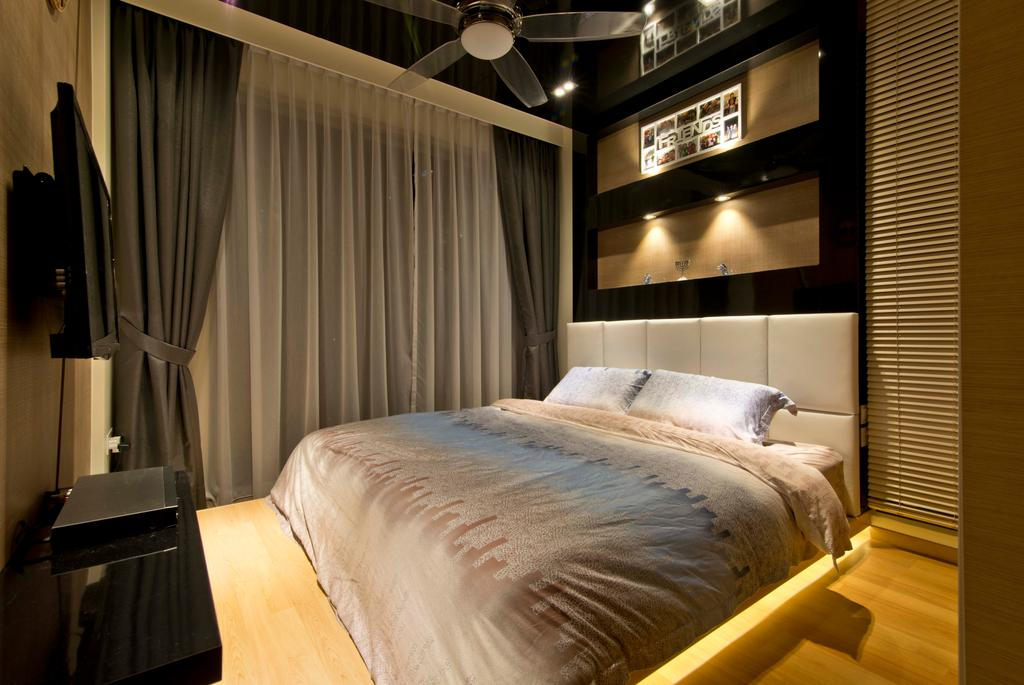 Modern, Condo, Bedroom, Punggol, Interior Designer, Mode Interior Style, Bed, Furniture, Indoors, Interior Design, Room, Sink