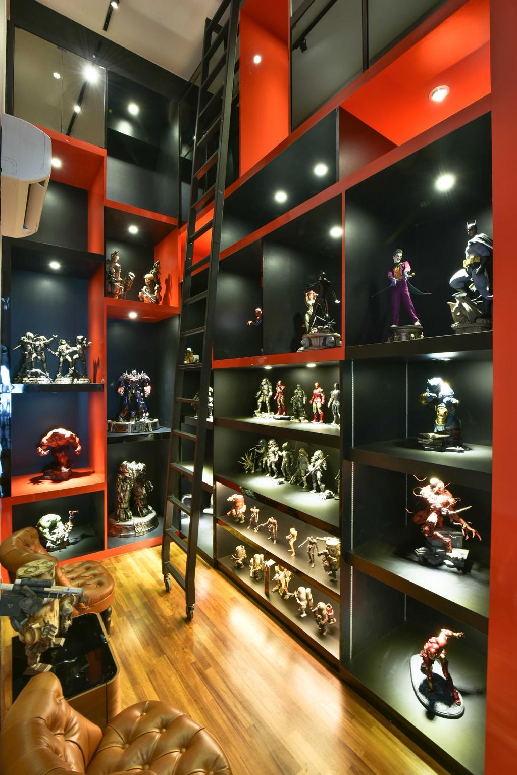 Modern, Condo, Study, Tropicana Grande, Interior Designer, Mode Interior Style, Circus, Leisure Activities, Trophy