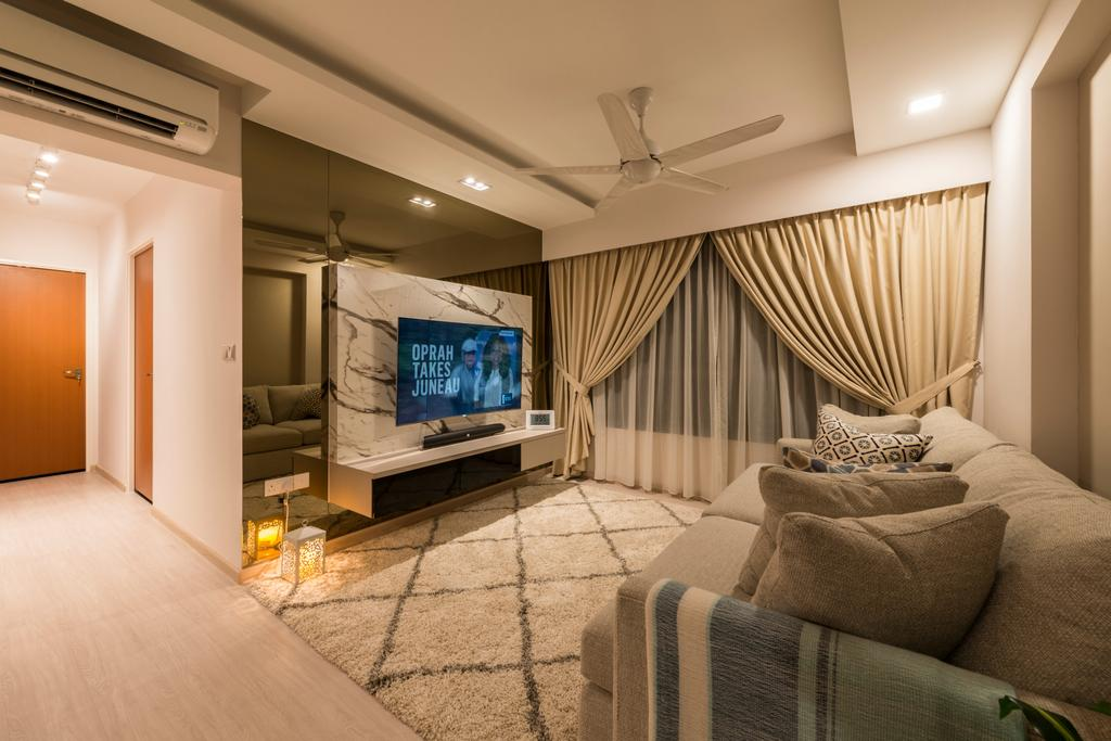 Scandinavian, HDB, Living Room, Jurong West Central, Interior Designer, Fifth Avenue Interior, Couch, Furniture, Indoors, Interior Design, Room, Chair