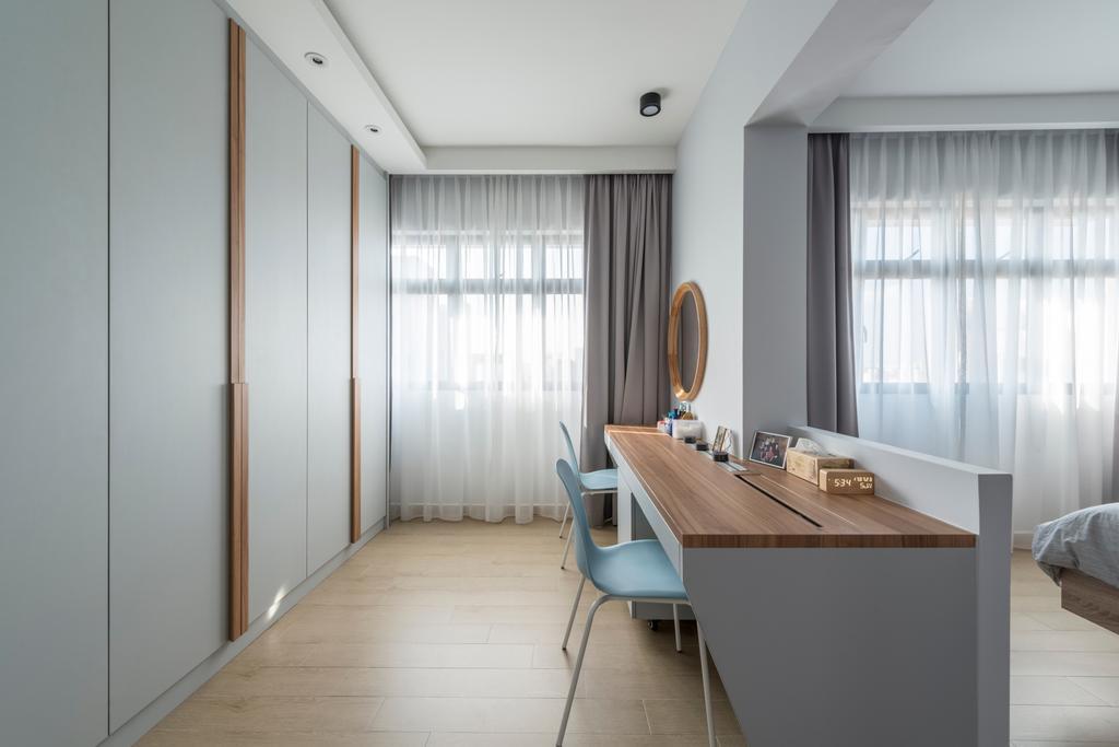 Scandinavian, HDB, Study, Upper Serangoon Road (Block 365C), Interior Designer, Fifth Avenue Interior, Indoors, Interior Design, Dining Table, Furniture, Table