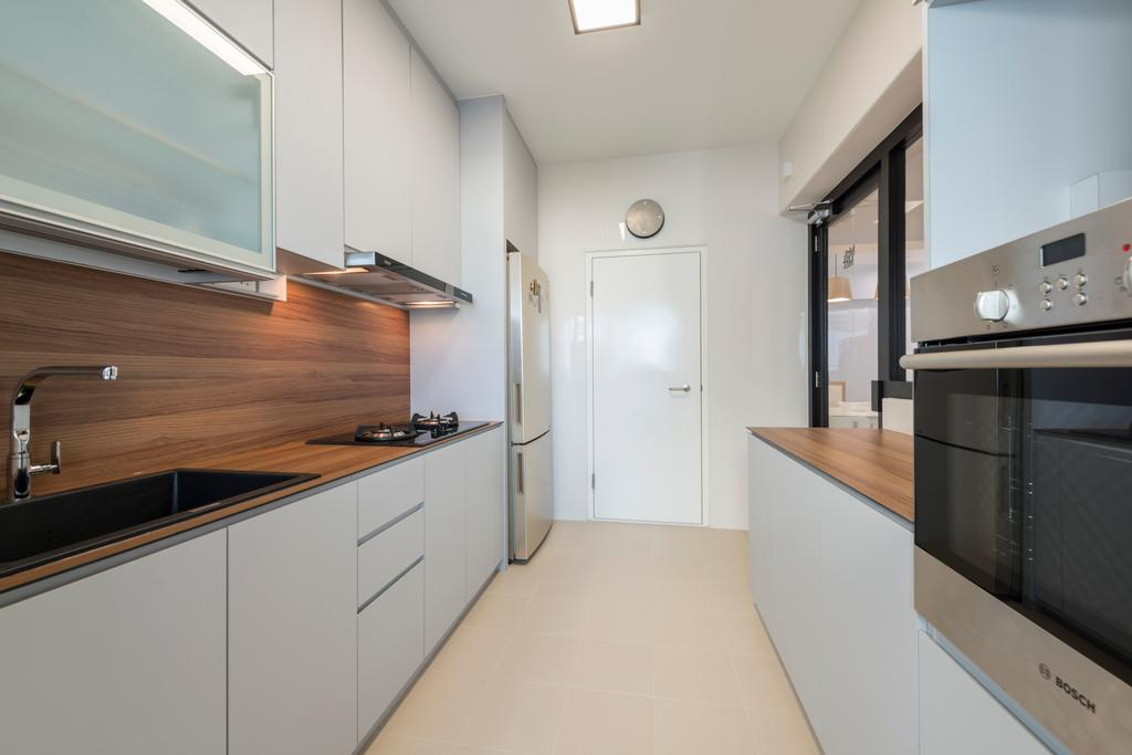 Scandinavian, HDB, Kitchen, Upper Serangoon Road (Block 365C), Interior Designer, Fifth Avenue Interior, Indoors, Interior Design, Room, Building, Housing, Loft
