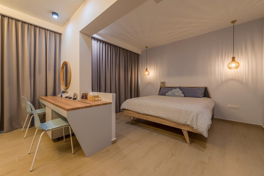 Scandinavian, HDB, Bedroom, Upper Serangoon Road (Block 365C), Interior Designer, Fifth Avenue Interior, Indoors, Interior Design, Room, Chair, Furniture, Desk, Table