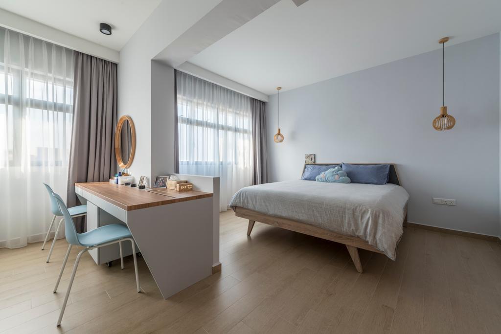 Scandinavian, HDB, Bedroom, Upper Serangoon Road (Block 365C), Interior Designer, Fifth Avenue Interior, Chair, Furniture, Sink, Indoors, Interior Design, Room