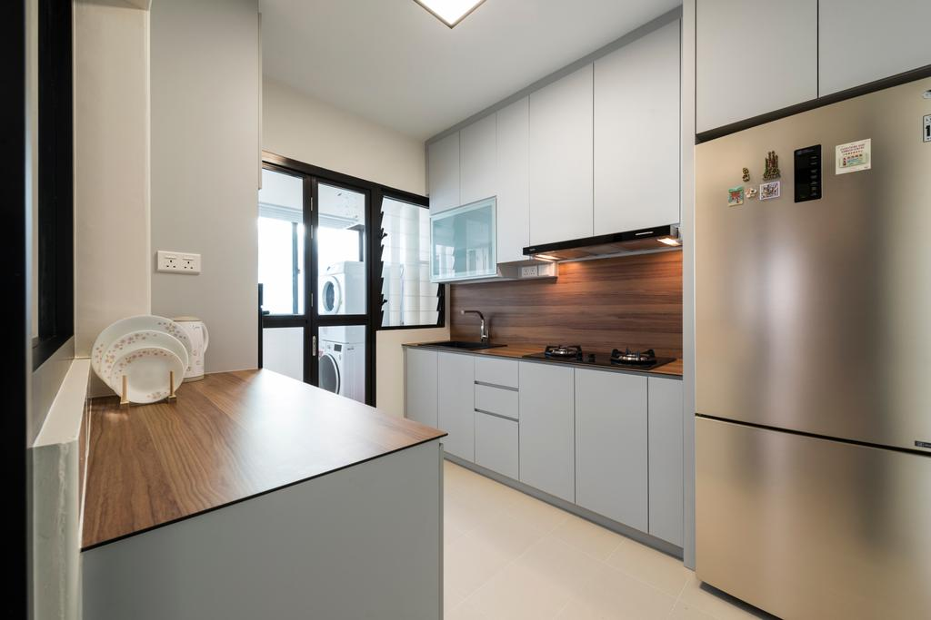 Scandinavian, HDB, Kitchen, Upper Serangoon Road (Block 365C), Interior Designer, Fifth Avenue Interior, Indoors, Interior Design, Room