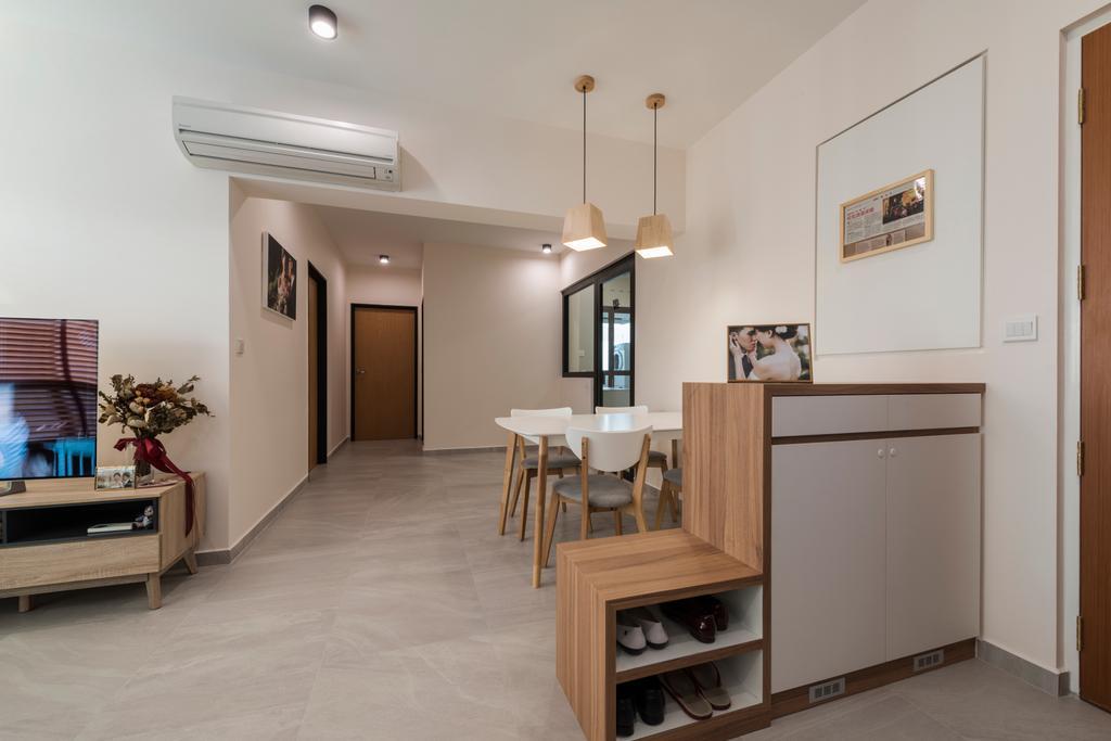 Scandinavian, HDB, Dining Room, Upper Serangoon Road (Block 365C), Interior Designer, Fifth Avenue Interior, Dining Table, Furniture, Table