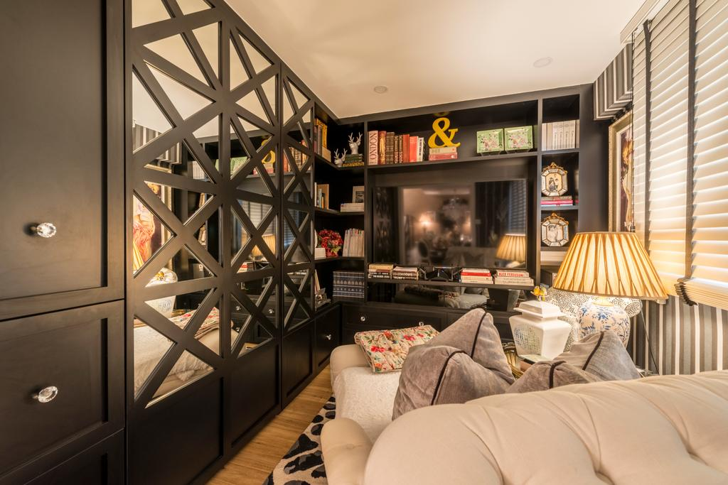 Eclectic, HDB, Study, Woodlands Ring Road, Interior Designer, Fifth Avenue Interior, Couch, Furniture, Building, Housing, Indoors