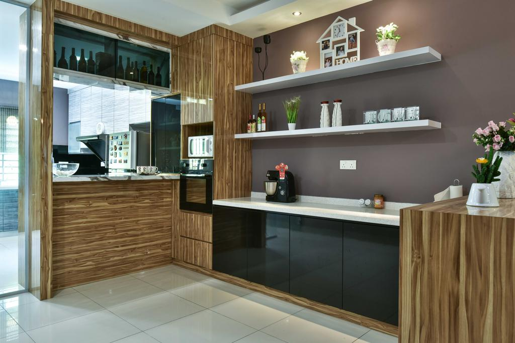 Transitional, Landed, Kitchen, Suria Tropika, Interior Designer, Mode Interior Style, Indoors, Interior Design, Furniture, Sideboard