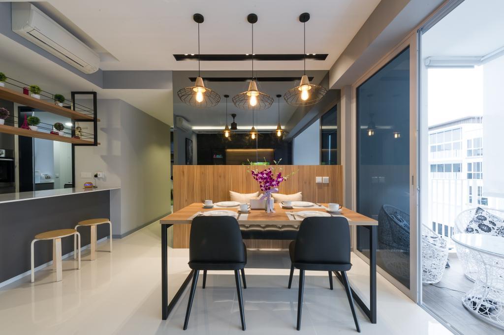 Scandinavian, Condo, Dining Room, Ecopolitan, Interior Designer, ELPIS Interior Design, Indoors, Interior Design, Room, Dining Table, Furniture, Table