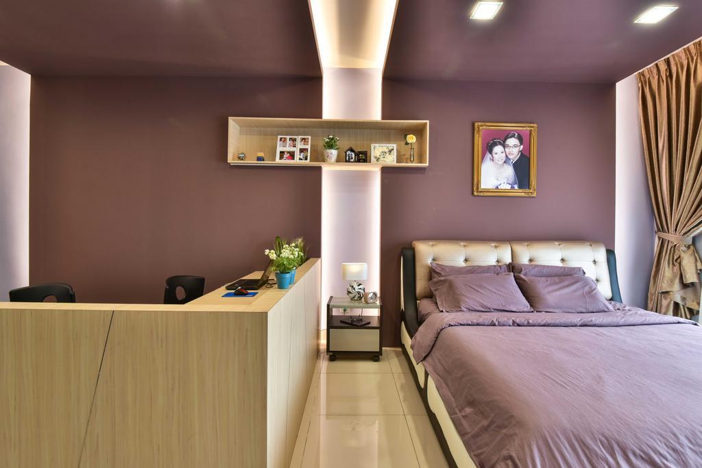 Transitional, Landed, Bedroom, Suria Tropika, Interior Designer, Mode Interior Style, Art, Painting, Indoors, Interior Design, Room, Dining Room, Bed, Furniture