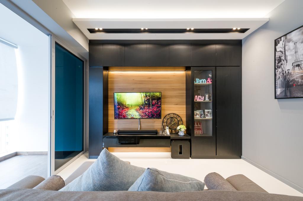 Scandinavian, Condo, Living Room, Ecopolitan, Interior Designer, ELPIS Interior Design, Indoors, Interior Design, Room