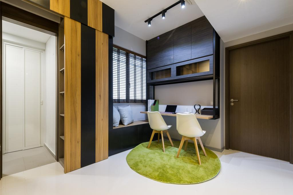 Scandinavian, Condo, Study, Ecopolitan, Interior Designer, ELPIS Interior Design, Chair, Furniture, HDB, Building, Housing, Indoors, Loft, Interior Design, Dining Table, Table