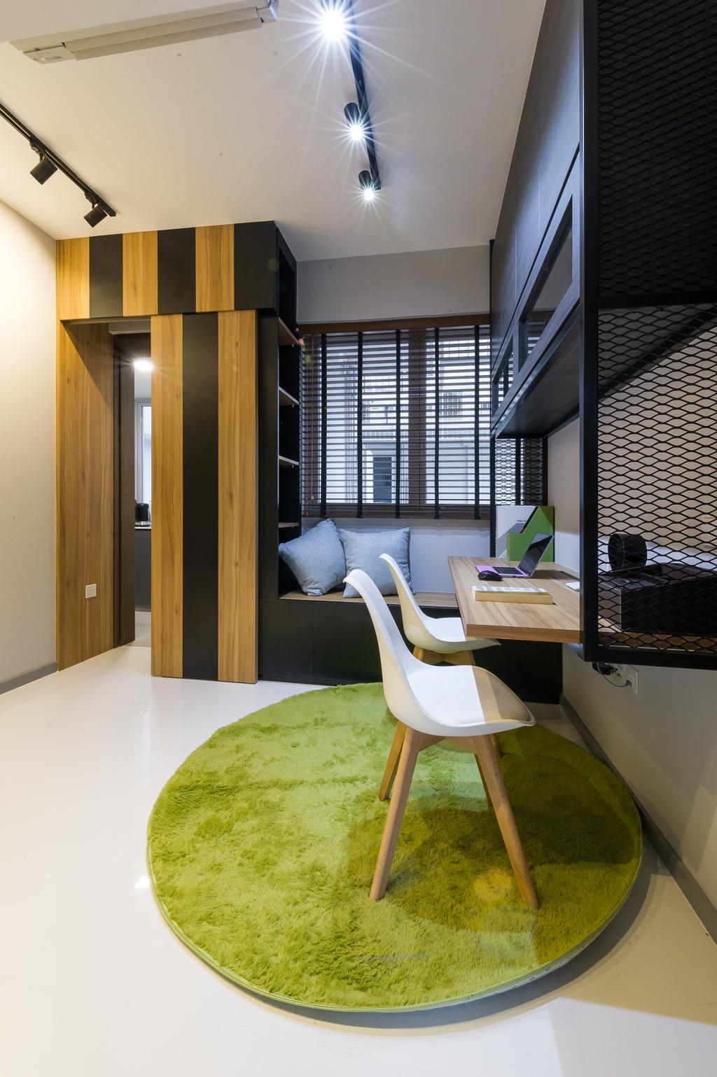 Scandinavian, Condo, Study, Ecopolitan, Interior Designer, ELPIS Interior Design, Chair, Furniture, Indoors, Interior Design