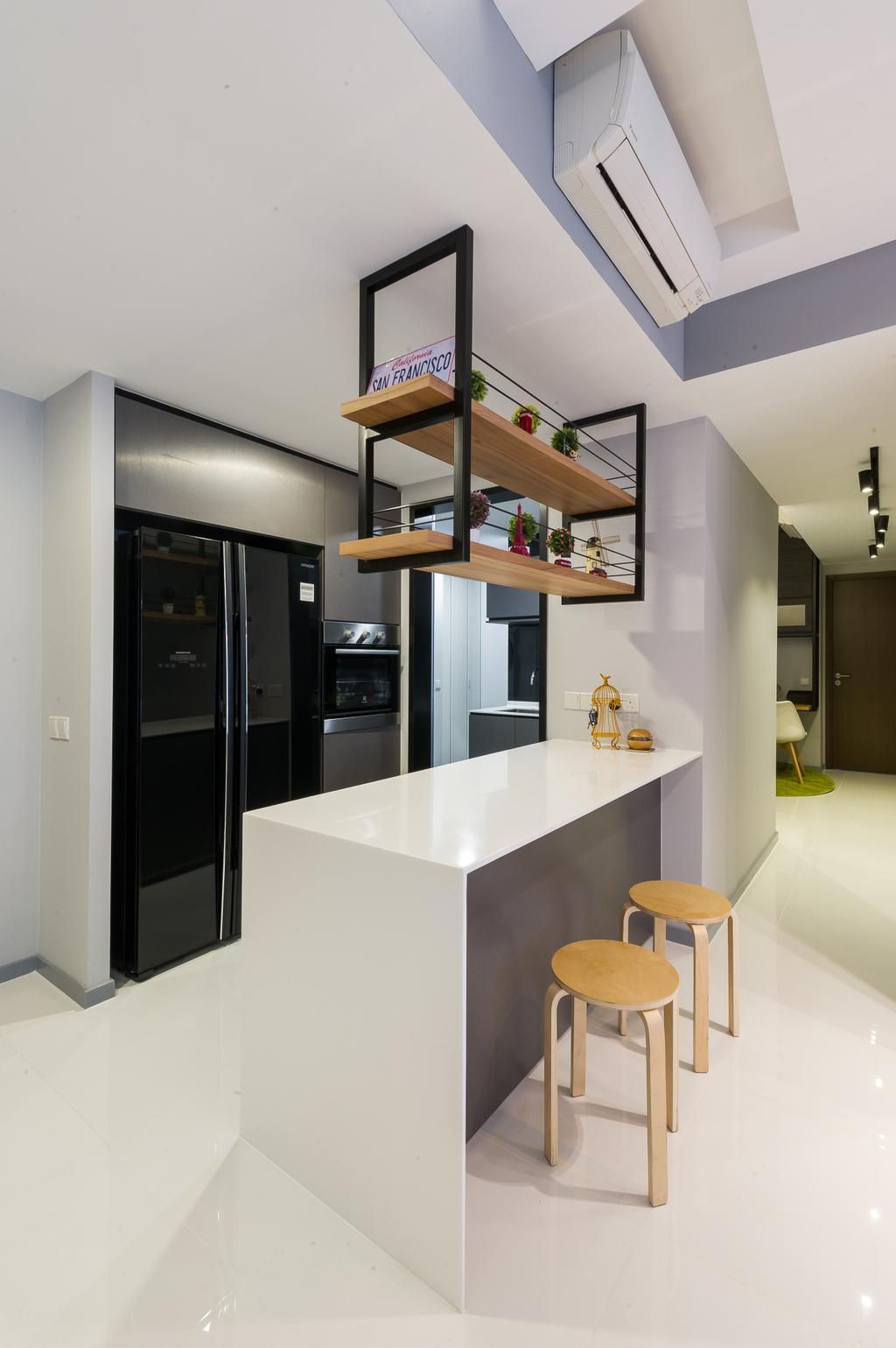 Scandinavian, Condo, Kitchen, Ecopolitan, Interior Designer, ELPIS Interior Design, Indoors, Interior Design, Door, Sliding Door