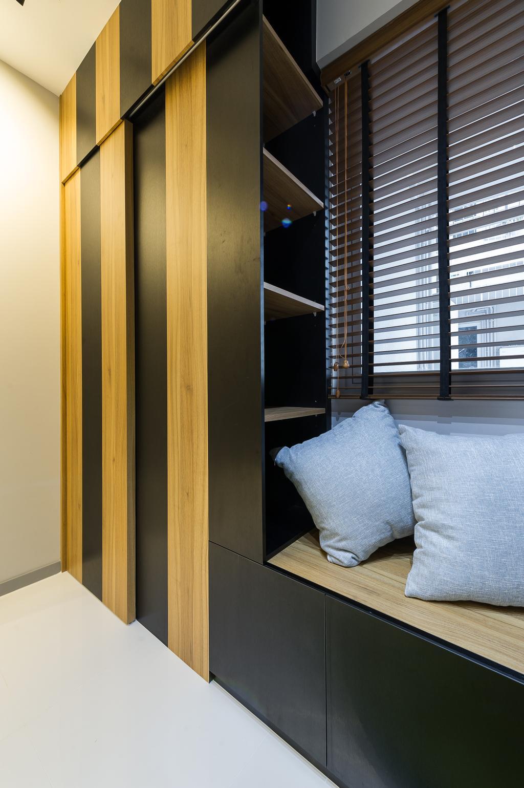 Scandinavian, Condo, Study, Ecopolitan, Interior Designer, ELPIS Interior Design, Shelf, Wood