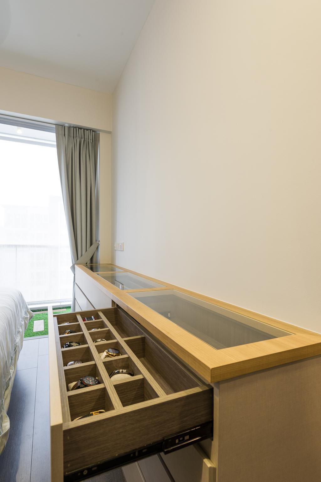 Scandinavian, Condo, Bedroom, Ecopolitan, Interior Designer, ELPIS Interior Design, Banister, Handrail, Staircase