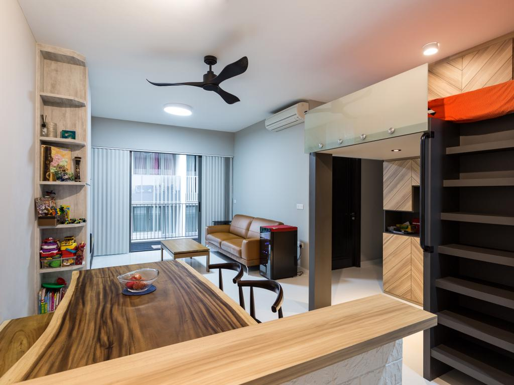 Modern, Condo, Bedroom, E Maison, Interior Designer, Space Concepts Design, Dining Room, Indoors, Interior Design, Room, Banister, Handrail, Staircase