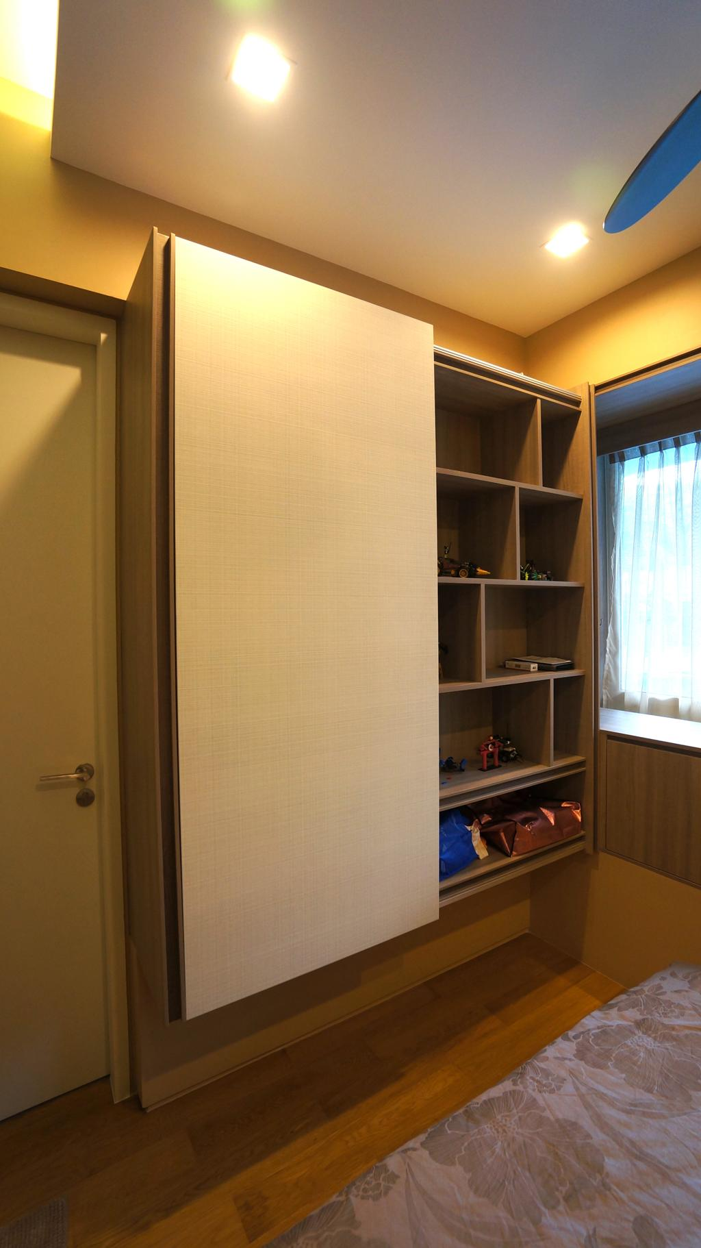 Modern, Condo, Bedroom, Sorrento, Interior Designer, Space Atelier, Shelf, Bookcase, Furniture