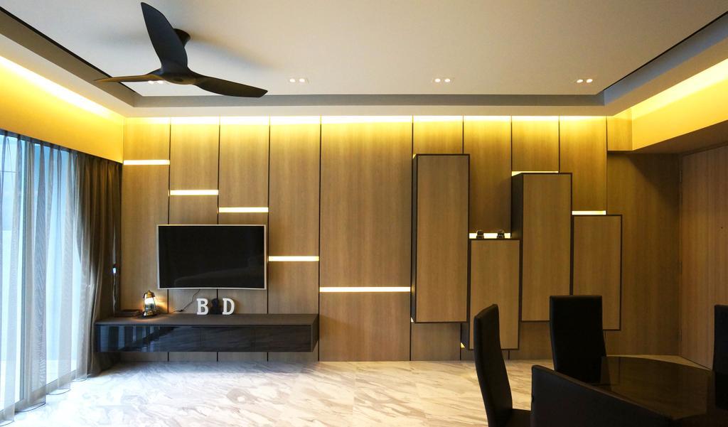 Modern, Condo, Living Room, Sorrento, Interior Designer, Space Atelier, Couch, Furniture, Indoors, Interior Design