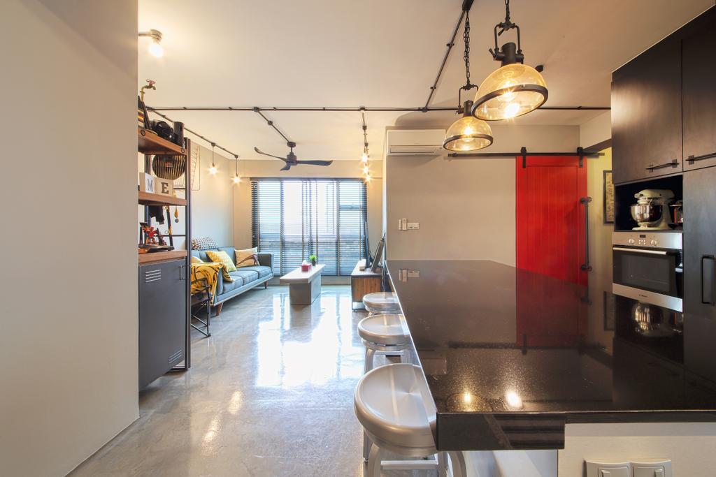 Industrial, HDB, Dining Room, McNair Road, Interior Designer, Dap Atelier