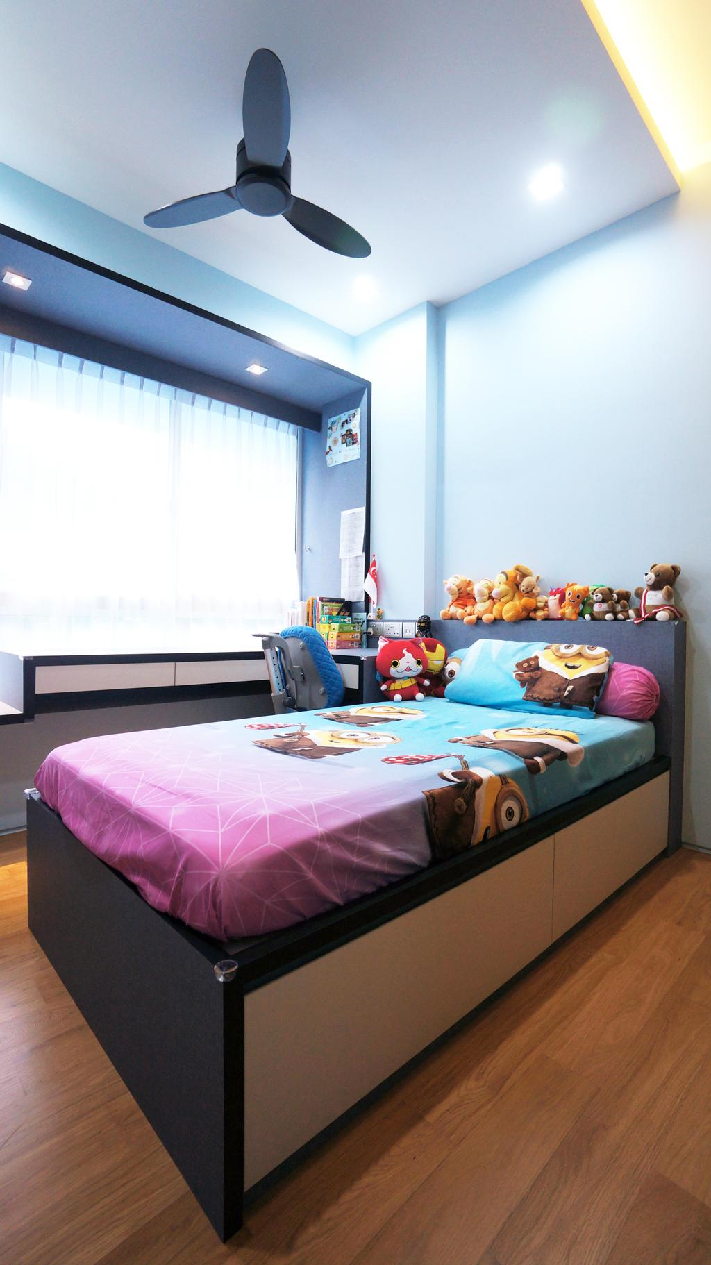 Modern, Condo, Bedroom, Sorrento, Interior Designer, Space Atelier, Bed, Furniture