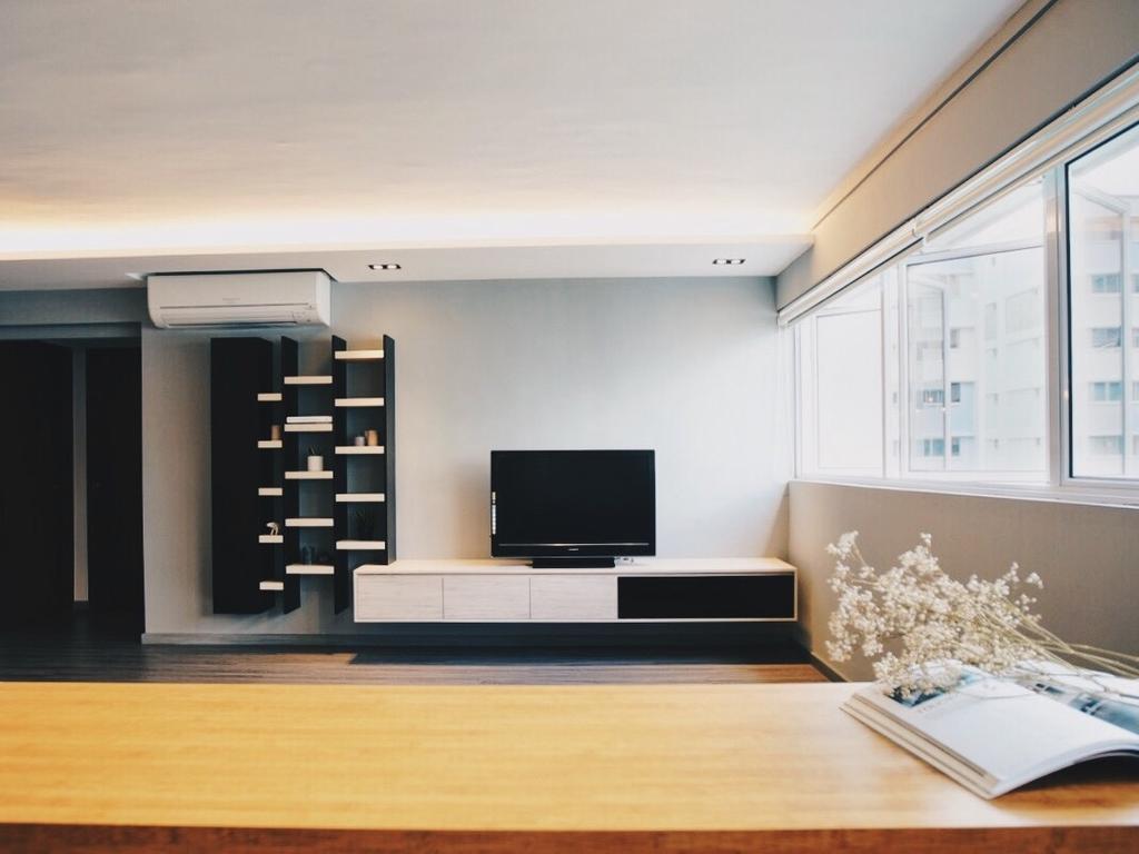 Minimalist, HDB, Living Room, Yishun Street 72, Interior Designer, The Interior.Look, Indoors, Interior Design, Flooring, Shelf