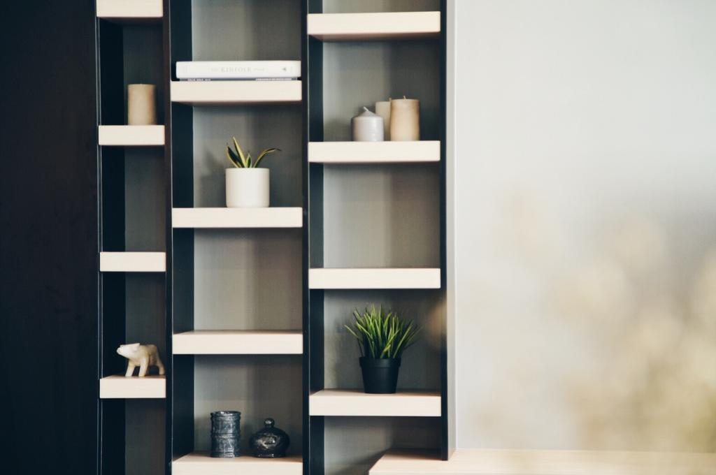 Minimalist, HDB, Living Room, Yishun Street 72, Interior Designer, The Interior.Look, Shelf, Bookcase, Furniture, Indoors, Interior Design