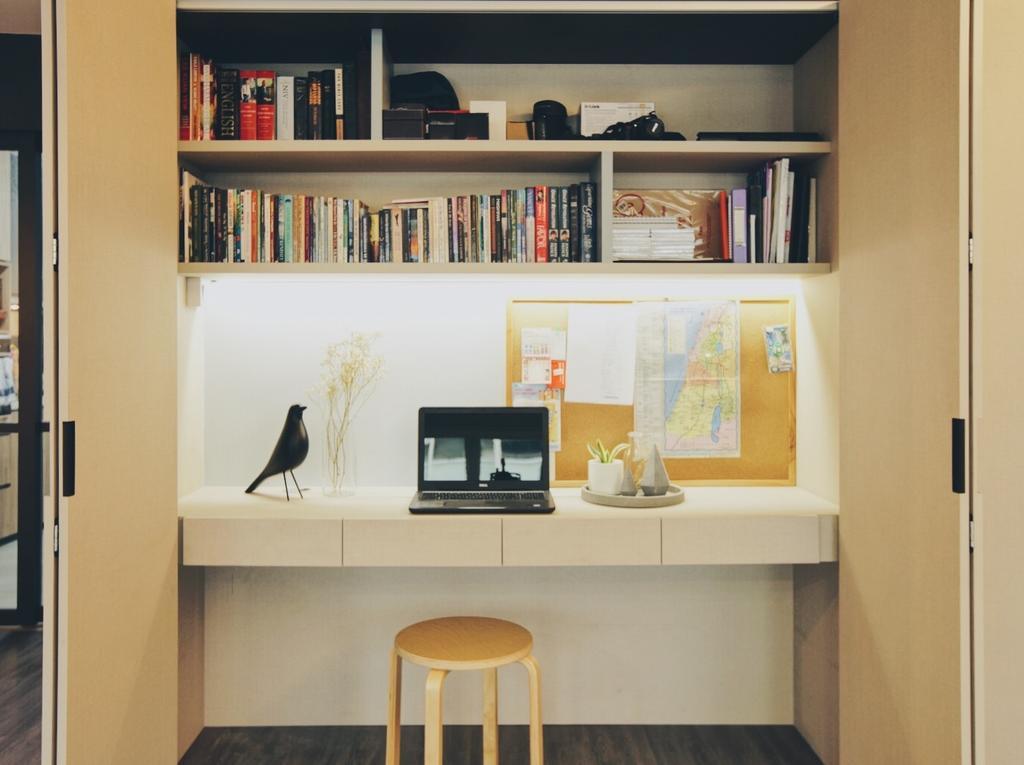 Minimalist, HDB, Study, Yishun Street 72, Interior Designer, The Interior.Look, Bookcase, Furniture