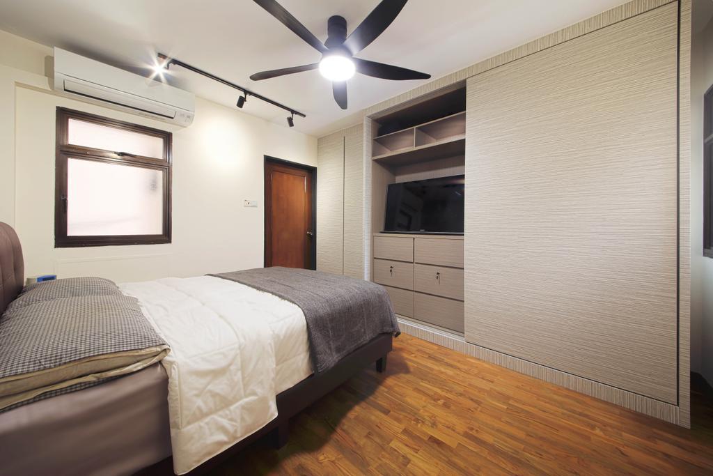 Modern, HDB, Bedroom, Fernvale, Interior Designer, Dap Atelier, Bed, Furniture