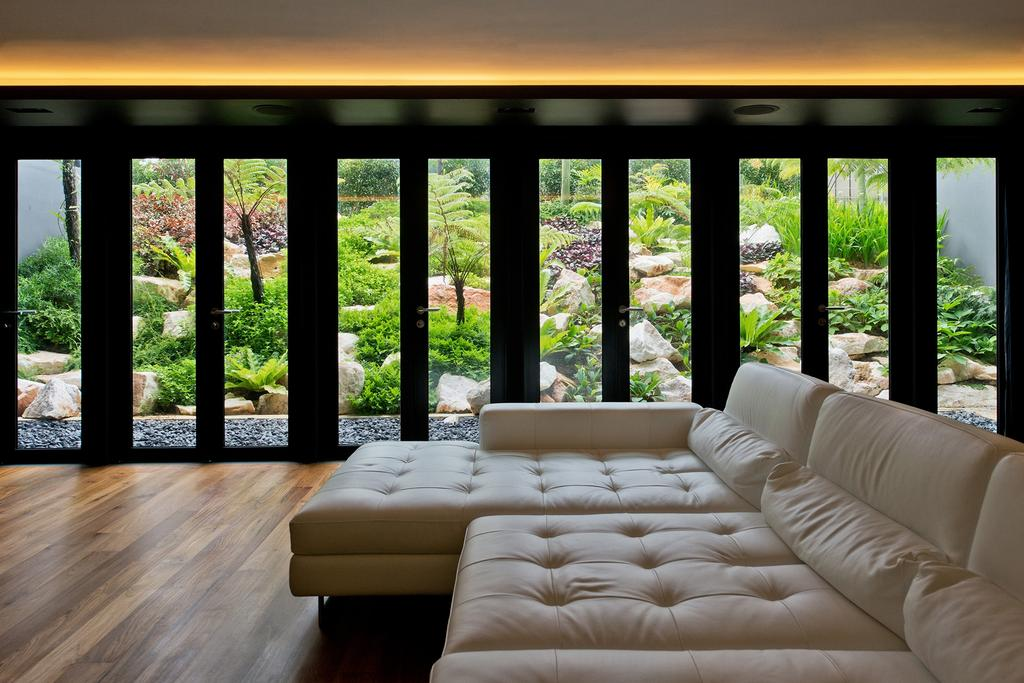 Contemporary, Landed, Living Room, Toh Heights, Architect, Kite Studio Architecture, Sofa, Wood Floor, Paequet, Cove Light, Couch, Furniture