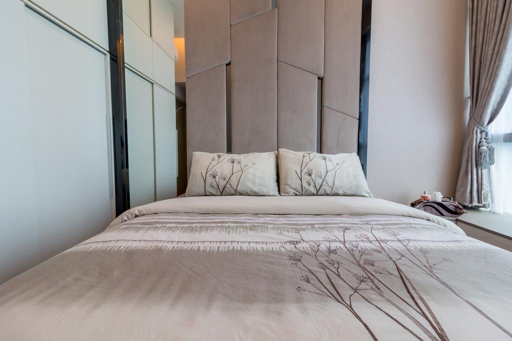 Modern, Condo, Bedroom, Santorini, Interior Designer, Design Story, Contemporary, Bed, Furniture