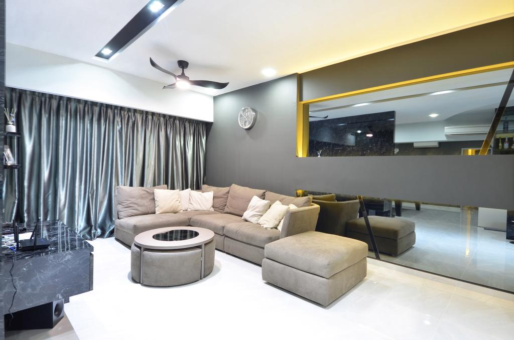Modern, HDB, Living Room, Skyline II, Interior Designer, Jialux Interior, Couch, Furniture, Indoors, Interior Design