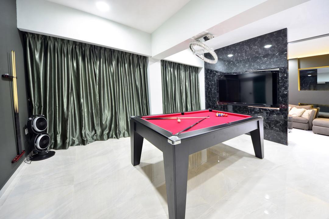 Skyline II, Jialux Interior, Modern, Study, HDB, Billiard Room, Furniture, Indoors, Pool Table, Room, Table