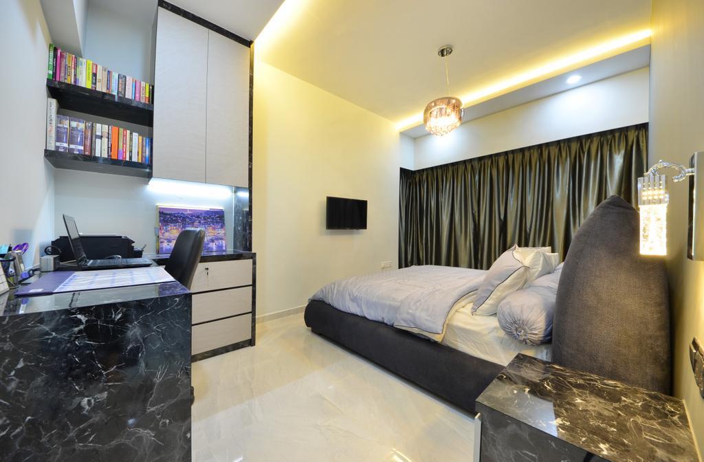 Modern, HDB, Bedroom, Skyline II, Interior Designer, Jialux Interior, Chair, Furniture, Indoors, Interior Design, Room