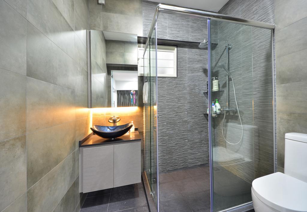 Modern, HDB, Bathroom, Skyline II, Interior Designer, Jialux Interior, Indoors, Interior Design, Room, Building, Housing, Loft