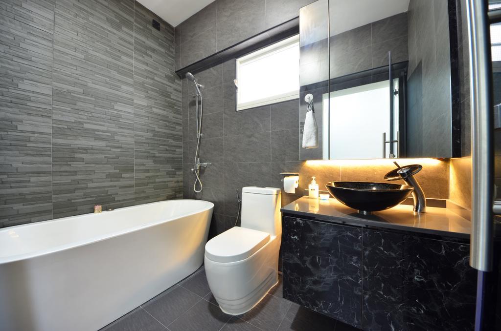 Modern, HDB, Bathroom, Skyline II, Interior Designer, Jialux Interior, Indoors, Interior Design, Room