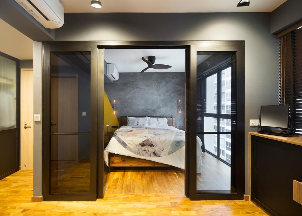 Industrial, Condo, Bedroom, Twin Fountains, Interior Designer, Versaform, Indoors, Interior Design, Room