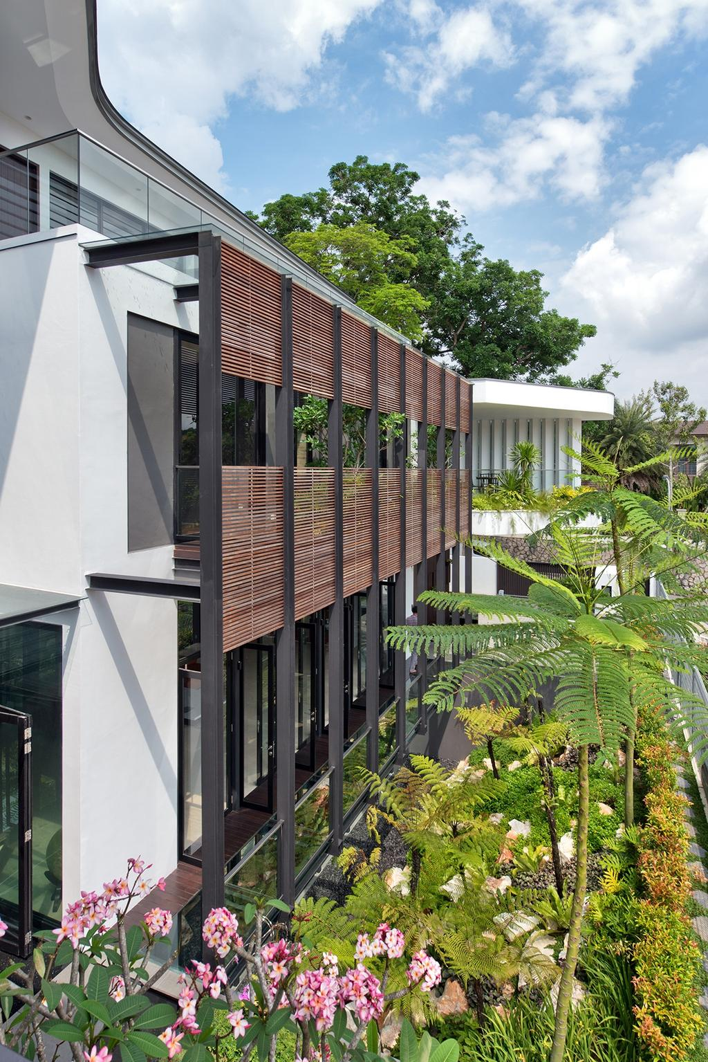 Contemporary, Landed, Garden, Toh Heights, Architect, Kite Studio Architecture, Exterior, Facade, Ventilation, Plants, Landscaping, Fern, Flora, Plant, Arecaceae, Palm Tree, Tree, Conifer, Yew