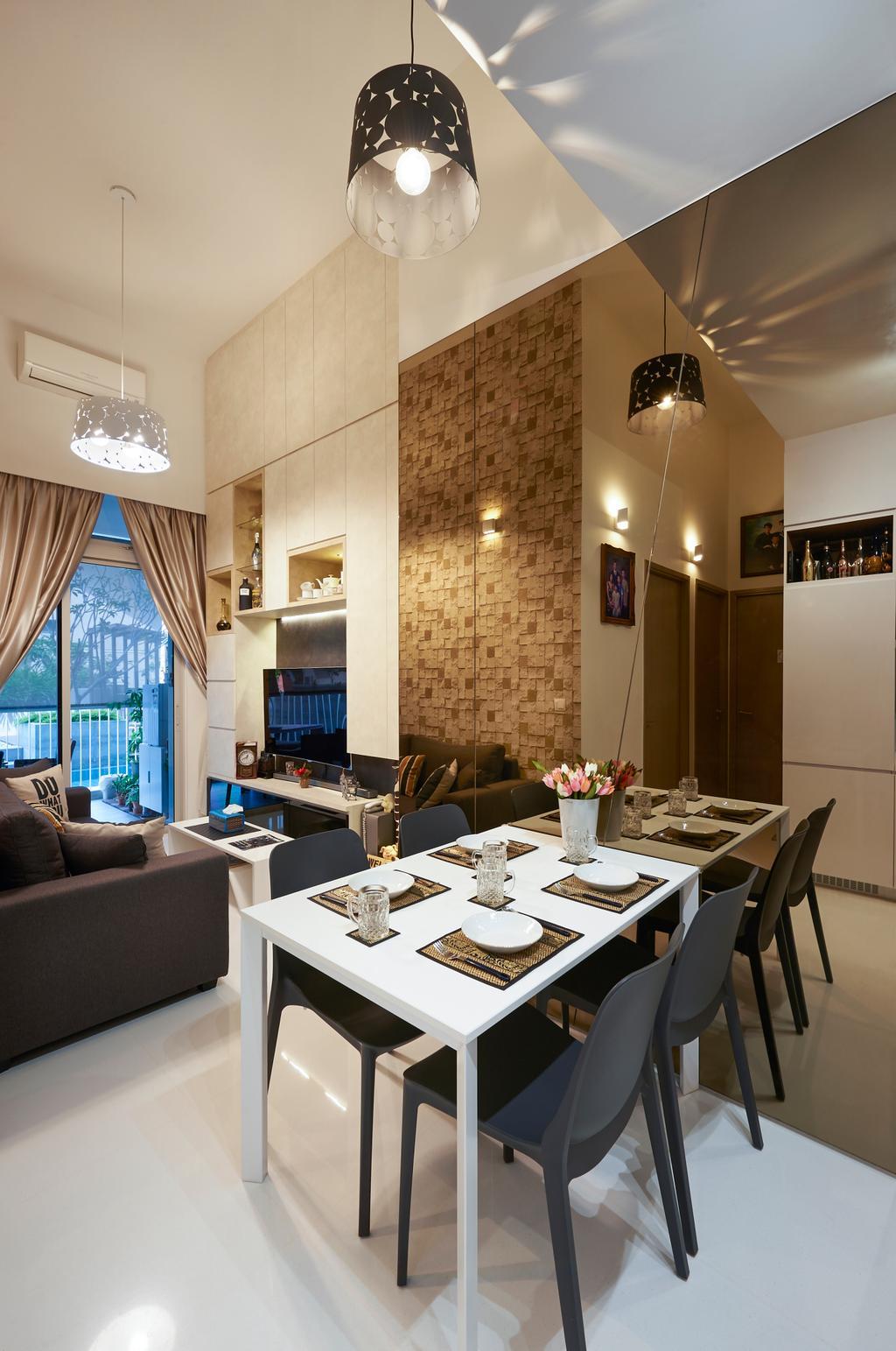 Contemporary, Condo, Dining Room, Cambio Suites, Interior Designer, U-Home Interior Design, Couch, Furniture, Indoors, Interior Design, Room, Dining Table, Table, Sink