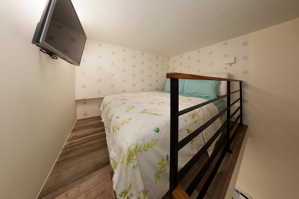 Contemporary, Condo, Bedroom, Cambio Suites, Interior Designer, U-Home Interior Design, Bed, Furniture, Building, Hostel, Housing, Indoors, Interior Design, Room