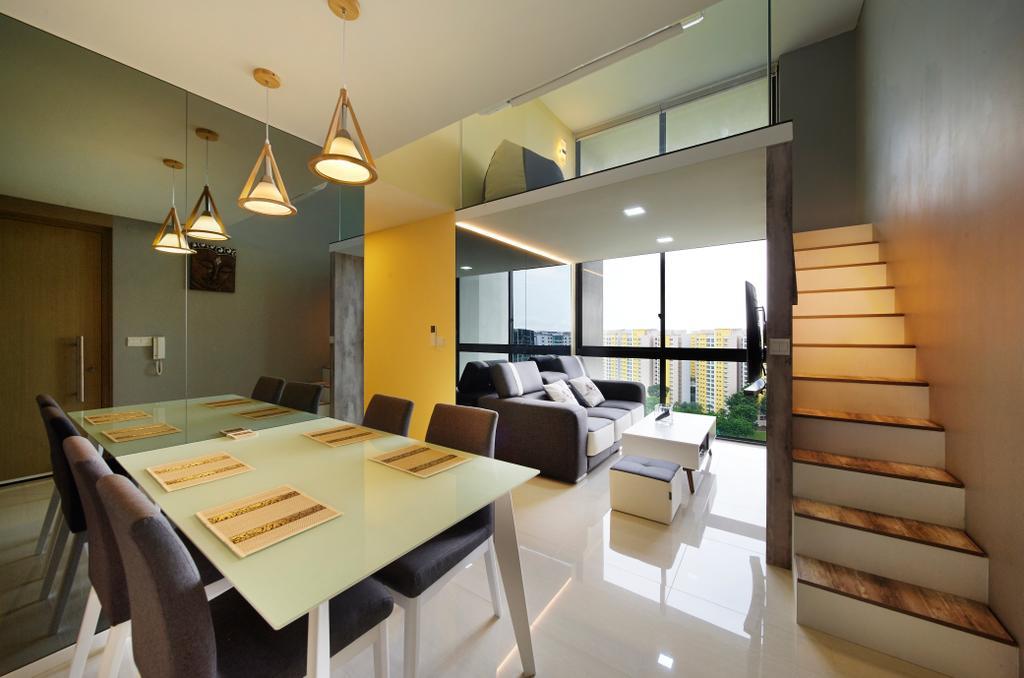 Contemporary, Condo, Dining Room, The Amore, Interior Designer, U-Home Interior Design, Indoors, Interior Design, Room, Furniture