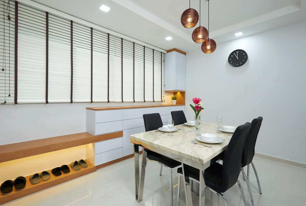 Modern, HDB, Dining Room, Bukit Batok Street 11, Interior Designer, U-Home Interior Design, Minimalistic, Dining Table, Furniture, Table, Chair, Indoors, Interior Design, Room