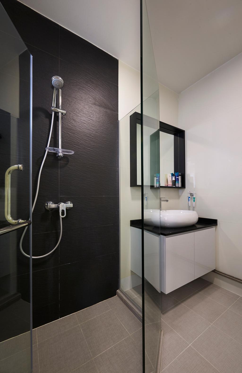 Modern, HDB, Bathroom, Bukit Batok Street 11, Interior Designer, U-Home Interior Design, Minimalistic, Indoors, Interior Design, Room, Banister, Handrail, Shower