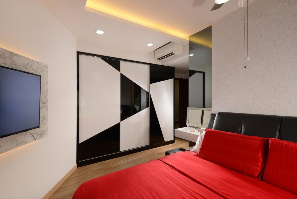 Modern, Condo, Bedroom, The Maderia, Interior Designer, U-Home Interior Design, Couch, Furniture
