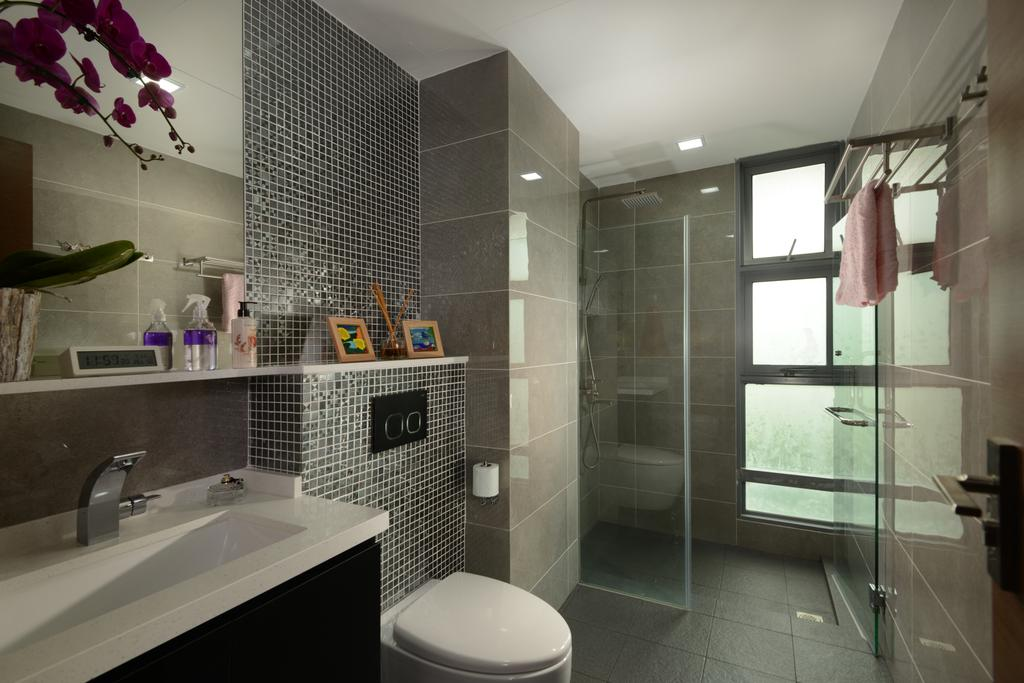 Modern, Condo, Bathroom, The Maderia, Interior Designer, U-Home Interior Design, Indoors, Interior Design, Room, Sink